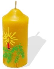 Adventska svijeća od pčelinjeg voska